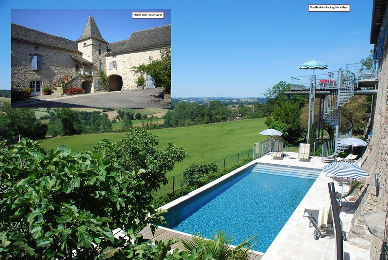 Le Portail 5* gite Heated pool 4bdrms 3bthrms sleeps 8 A step away from Najac, vacation rental in La Fouillade