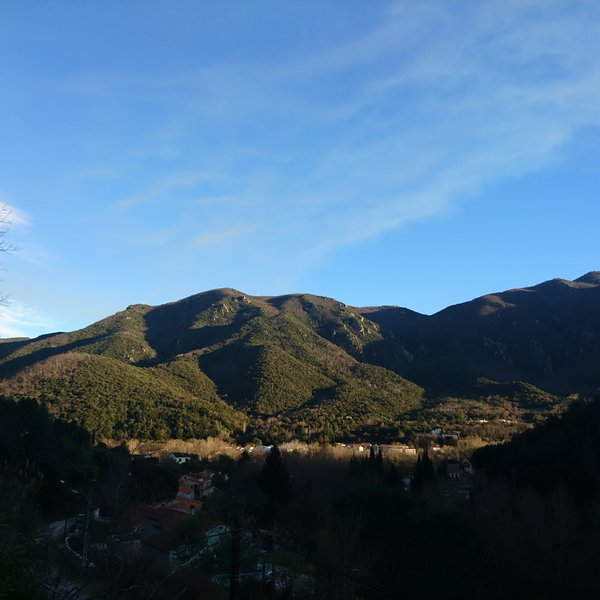 Take in this stunning view of the mountains from the one of the balconies or terraces