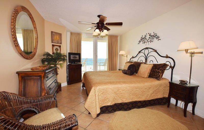Master Bedroom Sea Dunes Resort Unit 202 Fort Walton Beach Okaloosa Island vakantie-verhuur