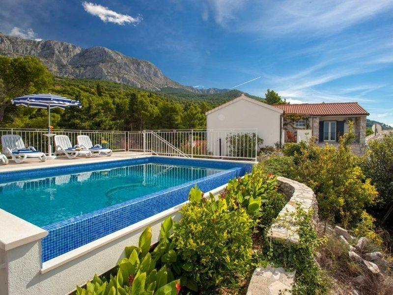 Villa Vanela**** with spectacular seaview, vacation rental in Tucepi