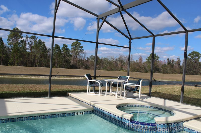 Pool/Spa Area with Overlooking Lake and Conservation Area