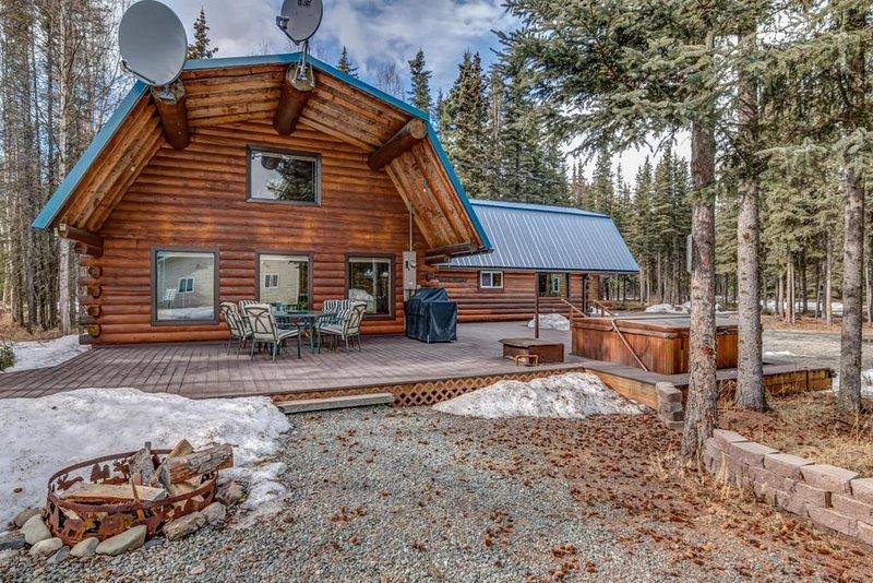 Living room side of cabin
