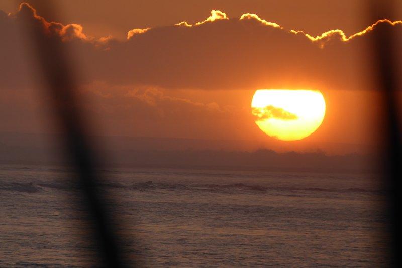 Sonnenuntergang an der Lagune von Saline