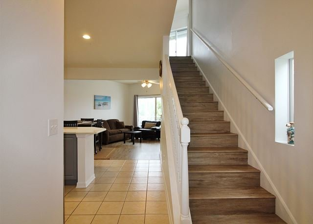 Stairs up to Master Suite