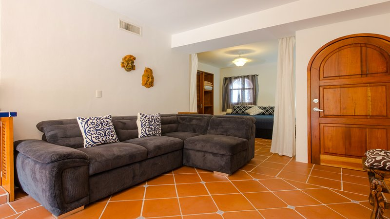 Riviera Maya Haciendas, Quinta Maya  - Your Living Room with A/C, Fan & Terrasse