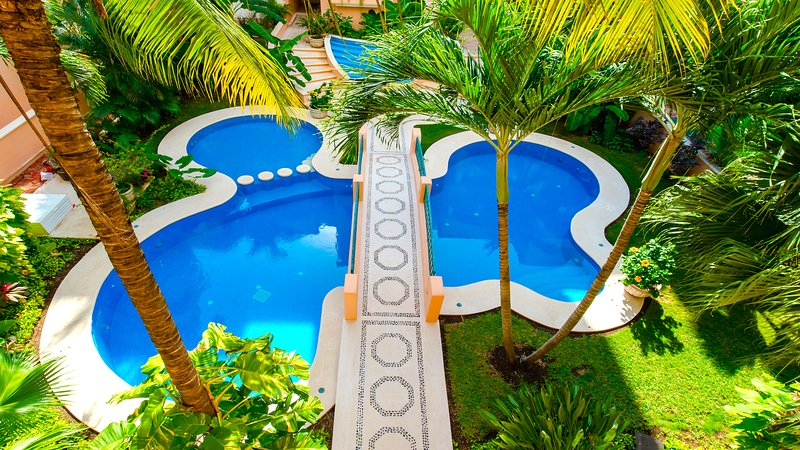 Riviera Maya Haciendas, Quinta Maya  - The Second Swimming Pool with Garden View