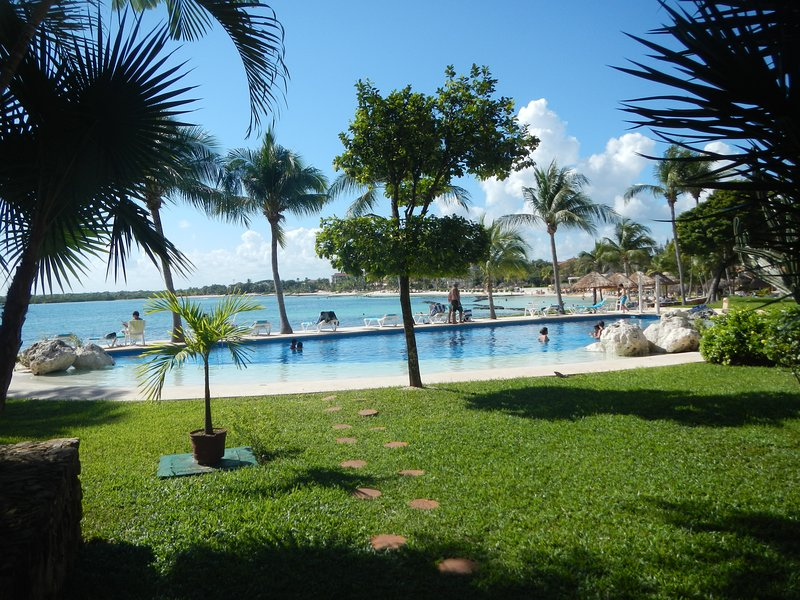 Enjoy one of our 2 pools over looking the water