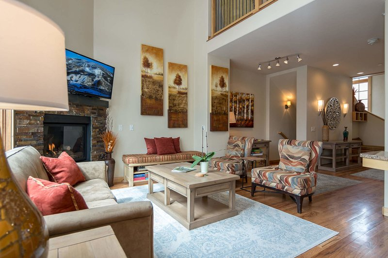 Elegant decor and high end finishes fill this downtown Steamboat townhome