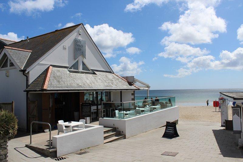 La playa y cafetería Gyllyngvase de Falmouth se encuentra a 15 minutos a pie.