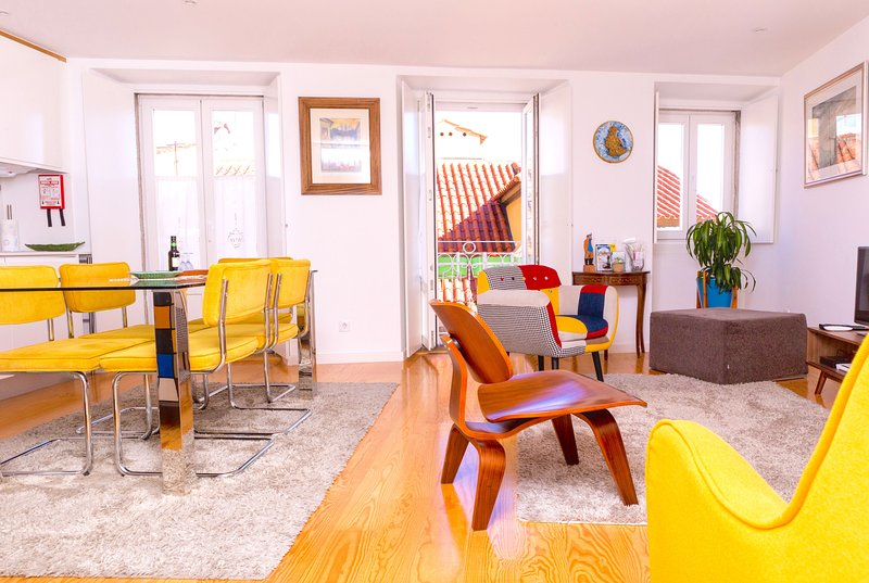 A stylish, spacious and bright room with two small balconies