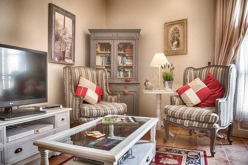 Relax in our comfortable and tastefully decorated lounge - split A/C and French windows