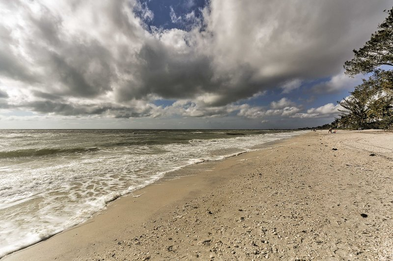 Enjoy the melodic sound of the ocean crashing into the shore.