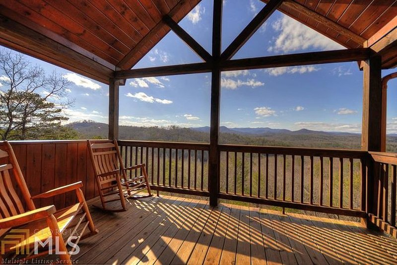 A Change In Altitude - upstairs master bedroom balcony view