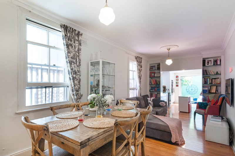 Family dining space, with six person setting