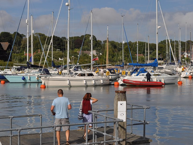 Take a boat ride from Lymington Quay