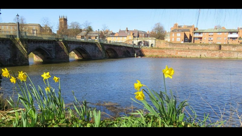 spring has arrived in Chester. Picture taken from bank of River Dee