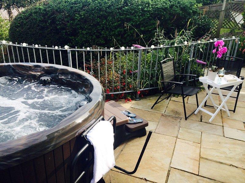 un bain chaud pour profiter de beau pendant votre séjour