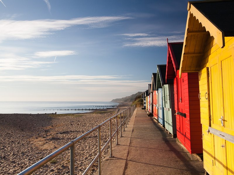 Beach huts at nearby Cromer