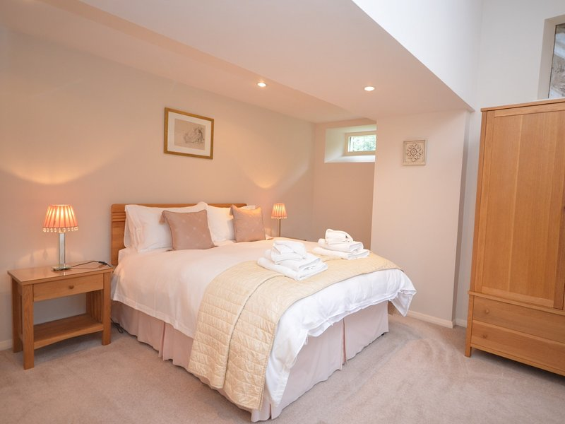 Master bedroom with original feature windows
