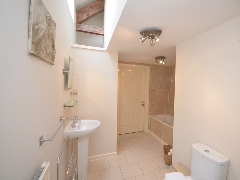 Jack and Jill bathroom shared with the double and single bedrooms