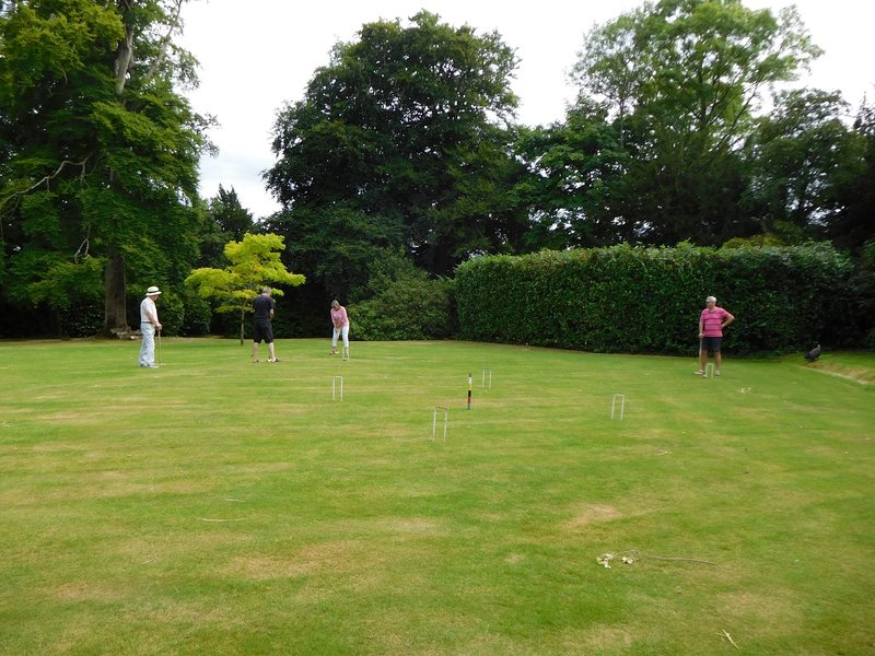 Try your hand at a spot of croquet on the lawn