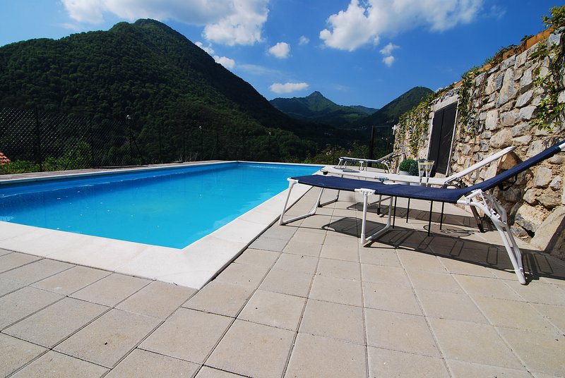 Montagne del Sole 2  - 2 bedroom ground floor Apartment, holiday rental in Pigra