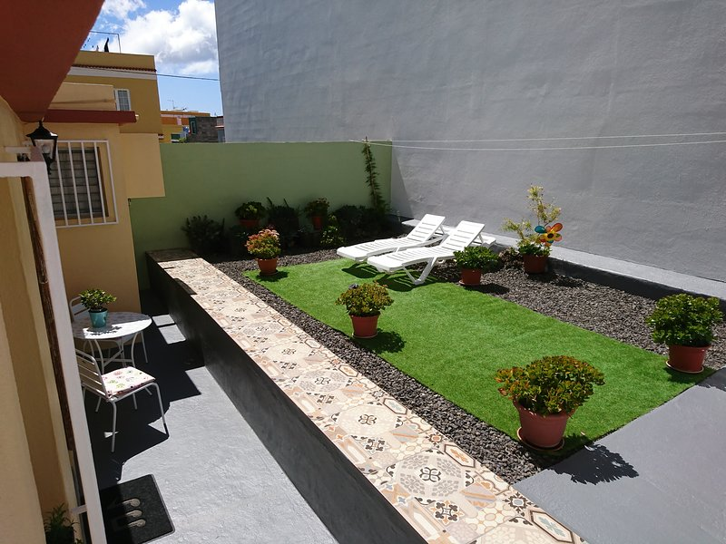 large private terrace for sunbathing, from 10 am until 6 pm.