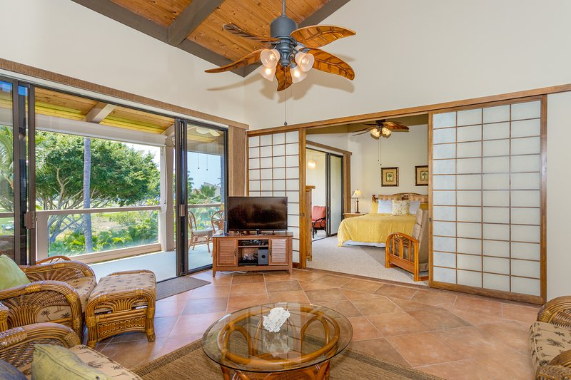 Surf & Racquet Club 6-303 - Living room and master bedroom