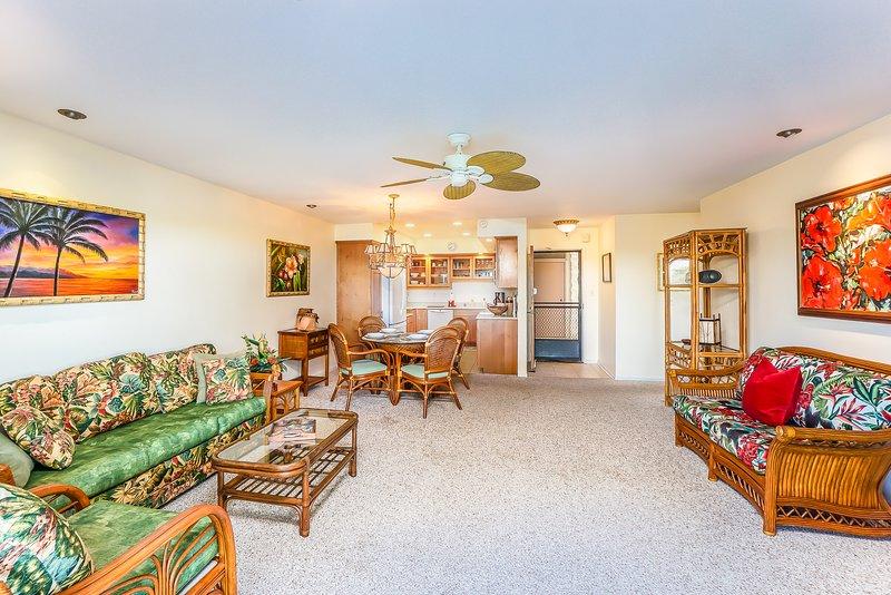 Keauhou Punahele #B202 - Living room seating