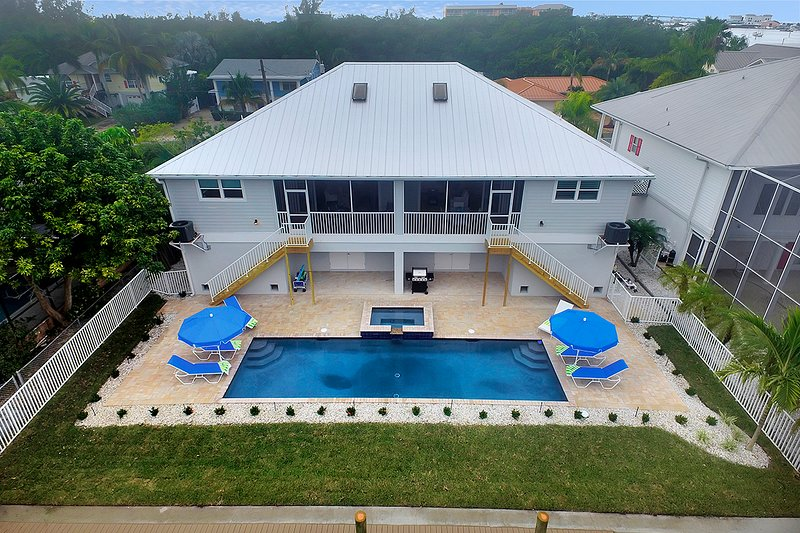 Veduta aerea della piscina