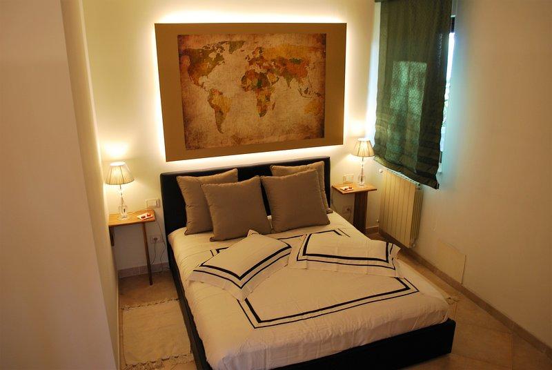 doble colchón y almohadas forma de memoria.