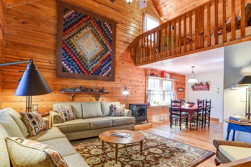 Zona de loft por encima de la sala de estar