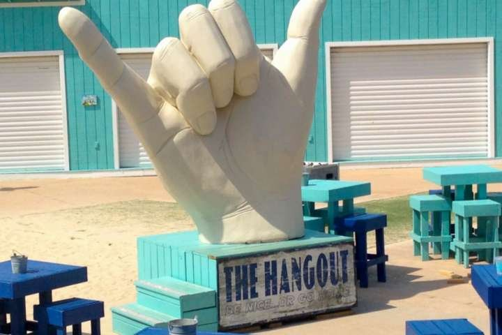 The Hangout - live music and food - 4.7 miles away