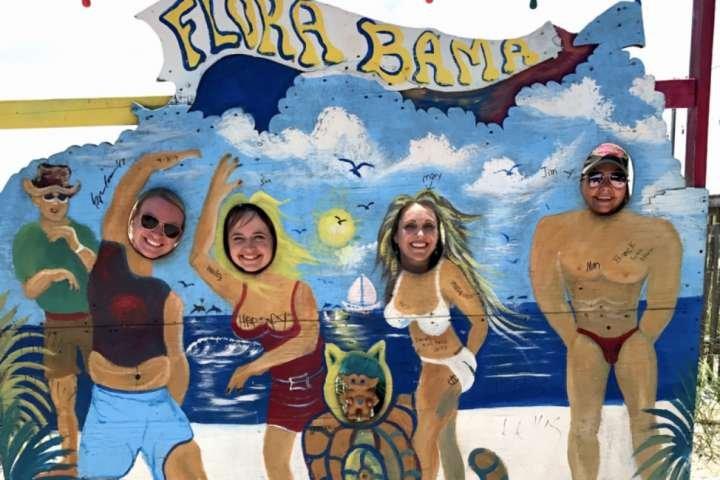 Flora-Bama beach bar - 4.5 miles away