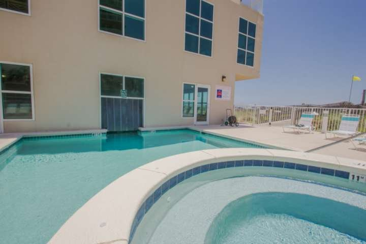 Community amenities and lounge chairs