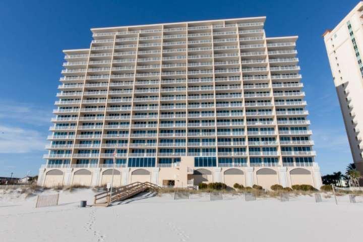 San Carlos condominiums from the beach