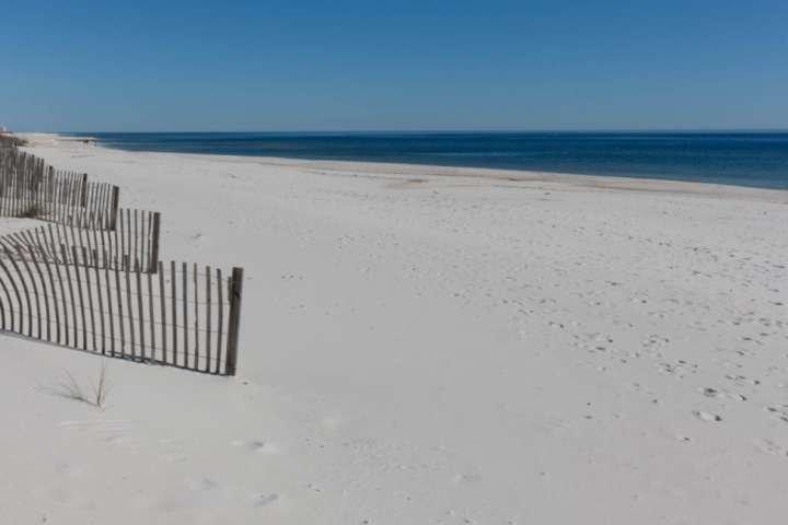 Sugar sand beach and Gulf