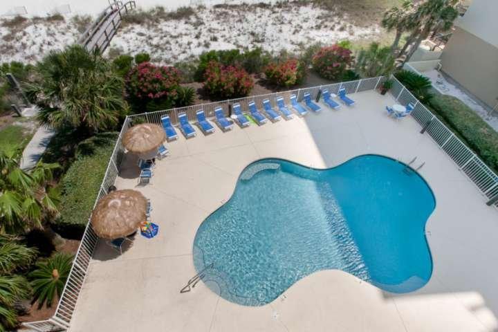 Community pool and tikis