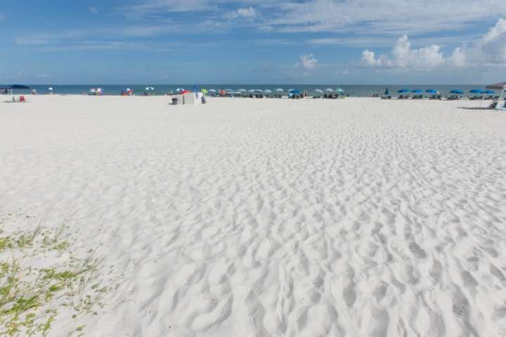 Sugar sand beach and the Gulf of Mexico