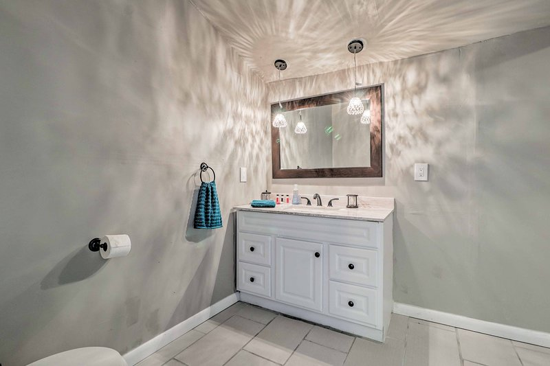 A second full bathroom provides extra space for getting ready each morning.