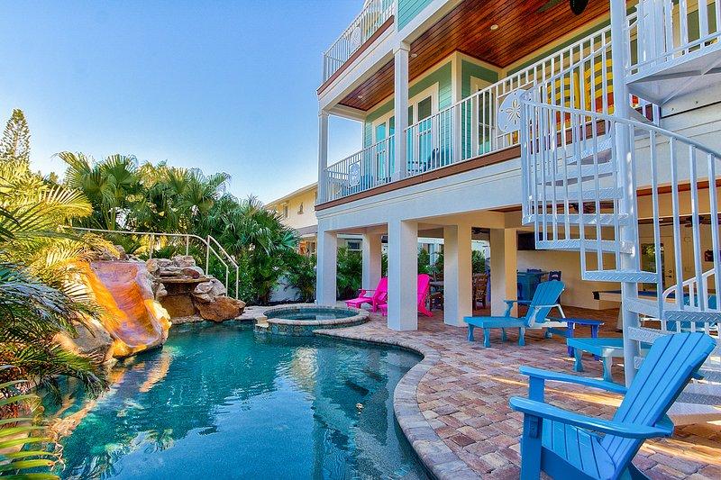 Area piscina con scivolo