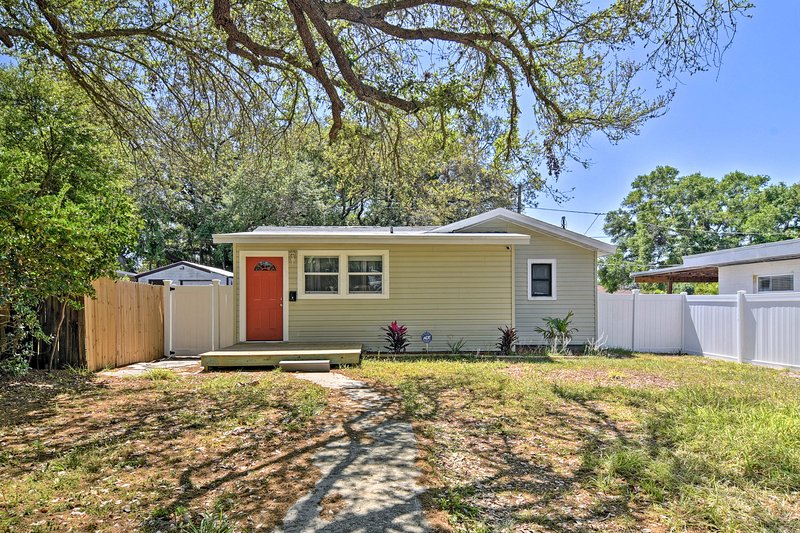 Minutes from downtown and the beach, you'll love this St. Petersburg bungalow.