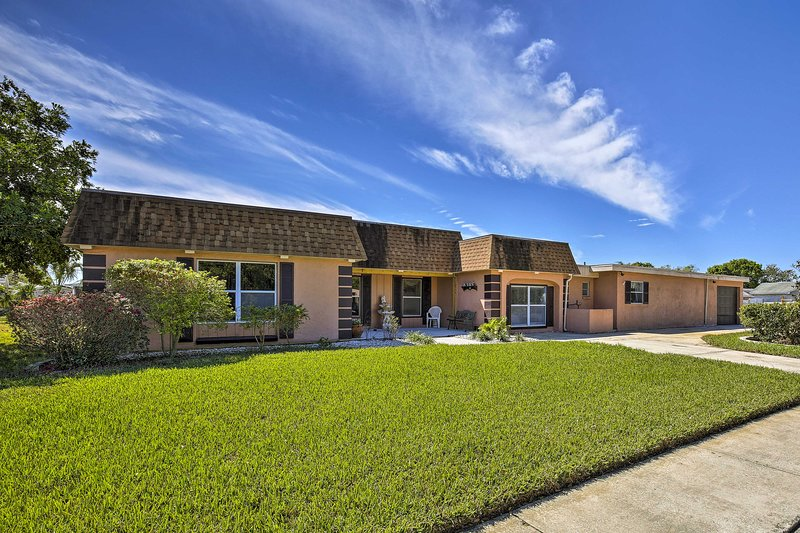 Located in New Port Richey, this home is both elegant and cozy.