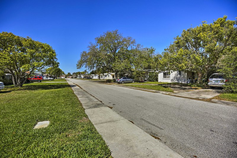 Located on a quiet residential street, this home is a great place for some R&R.