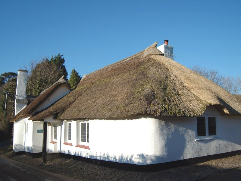 ALICE COTTAGE, thatched Exmoor cottage with wood burning stove and secluded, location de vacances à Wootton Courtenay