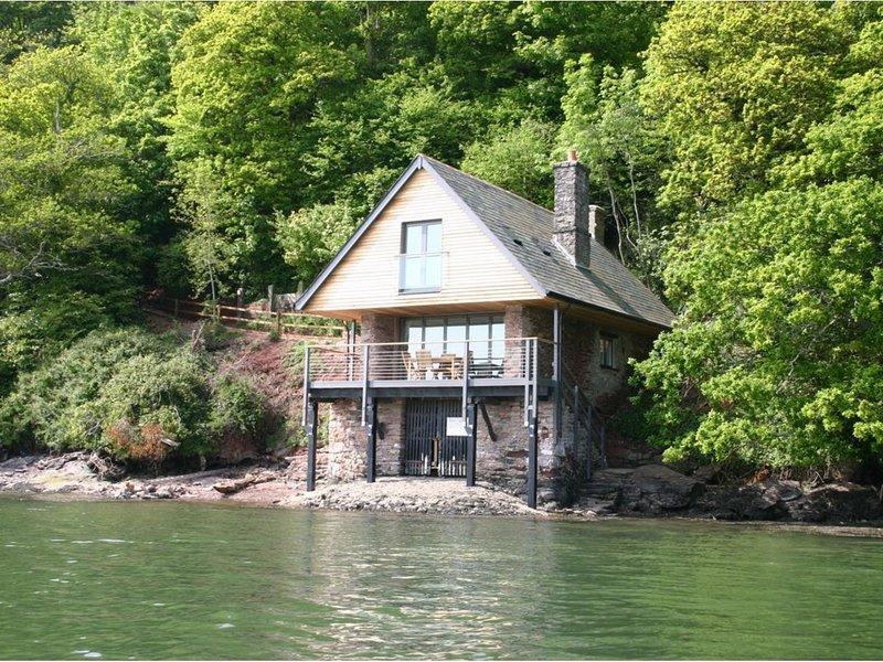 Sandridge Boathouse, Stoke Gabriel, alquiler de vacaciones en Totnes