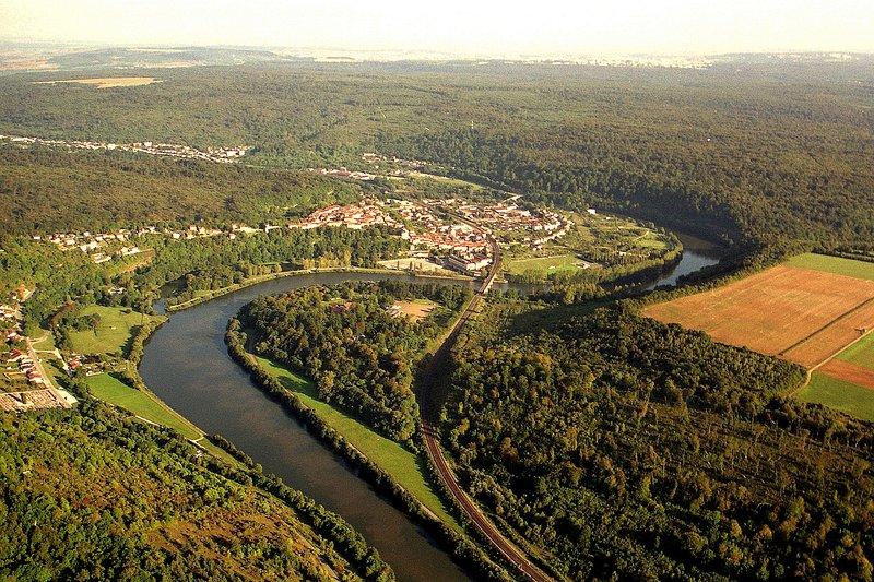 Moselle Valley in Liverdun near Nancy