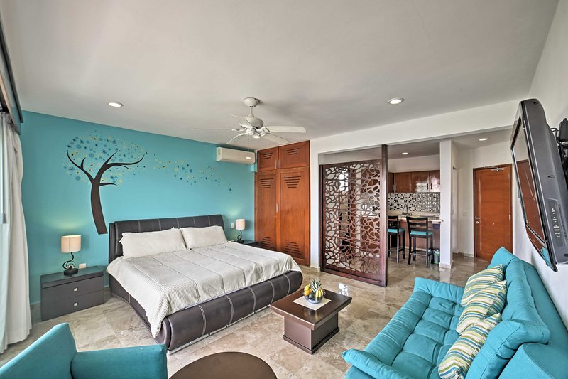 This comfortably furnished unit sleeps 4 lucky guests.