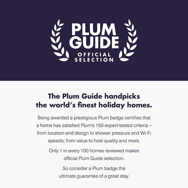 The flat has been selected and listed in the prestigious hyper selective Plum Guide as finest home