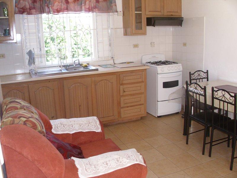 fridge,stove,microwave, utencils